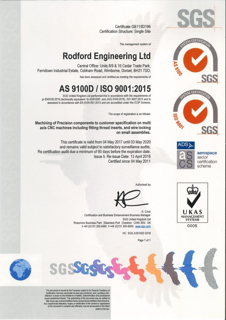 AS9100D ISO 9001_2015
